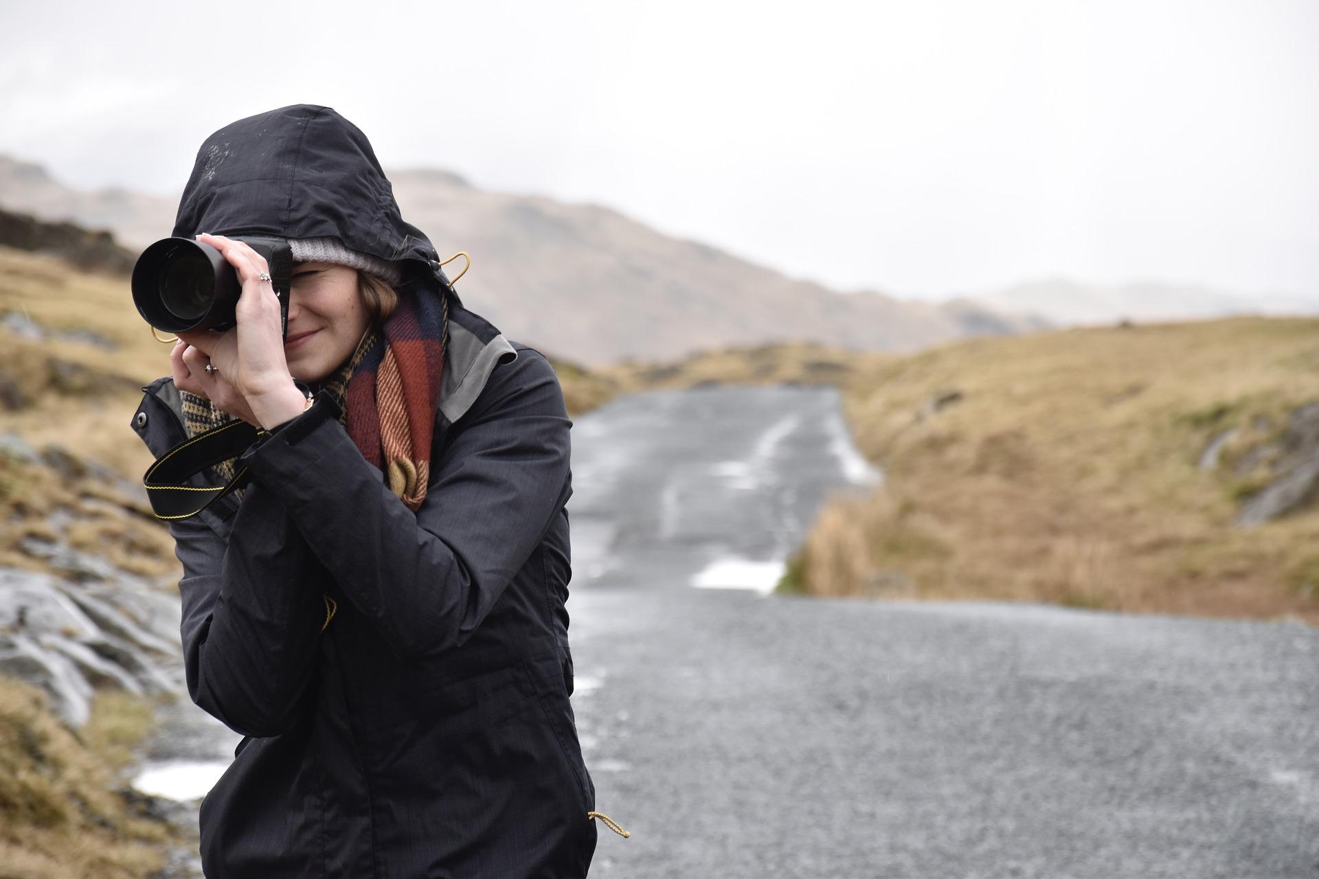 fotografka v přírodě