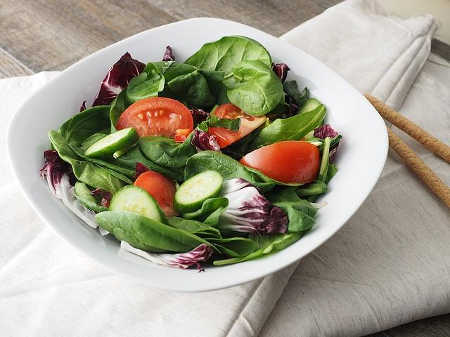 salát – rajče, okurka, čekanka, špenát