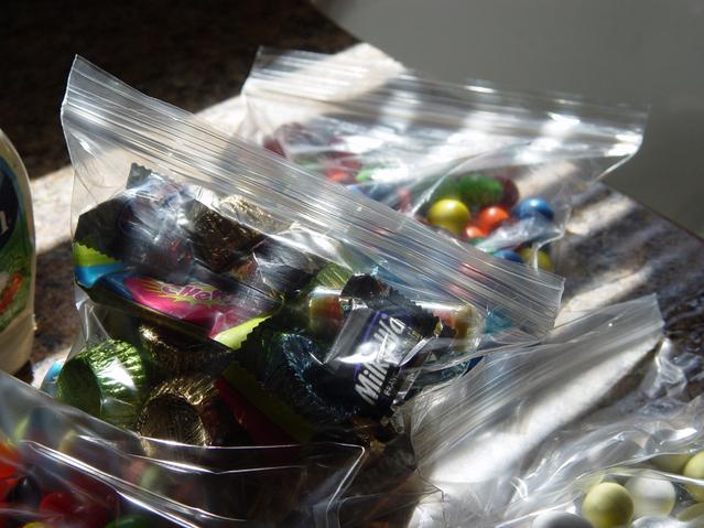 zip sáček s potravinami